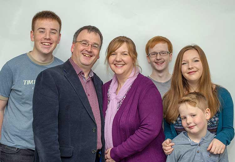 Mervyn and Karen Scott and family