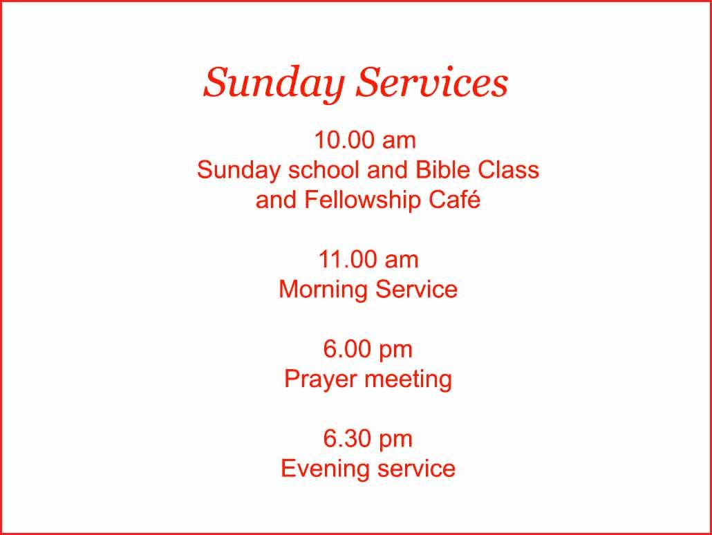Sunday at Moira Baptist
