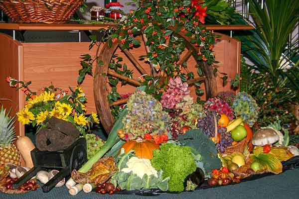 harvest thanksgiving at Moira Baptist