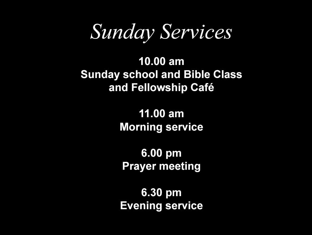 Sunday Services at Moira Baptist
