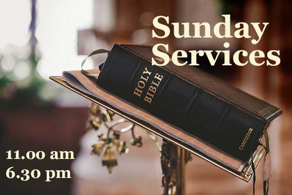 Sunday services at Moira Baptist Church