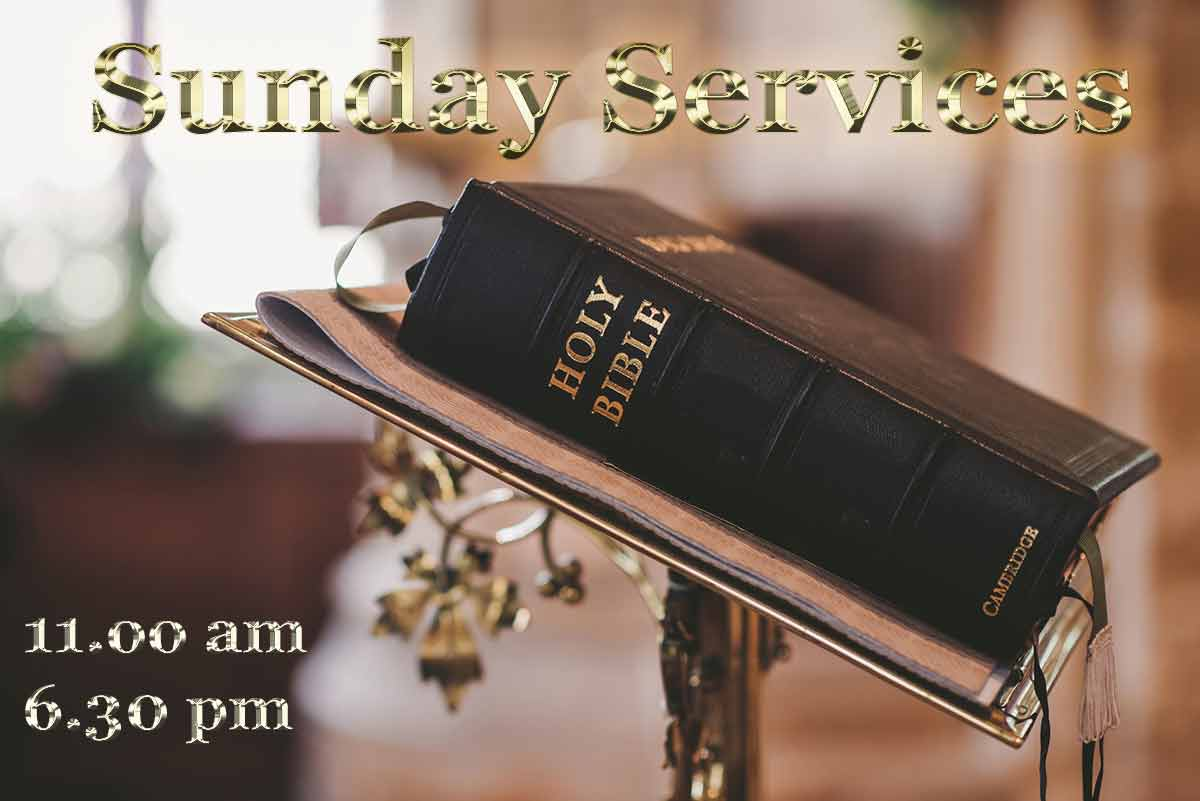 sunday services at Moira Baptist Church