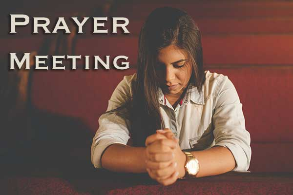 prayer meeting at Moira Baptist Church